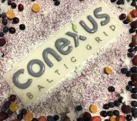 """2018.gada 4.janvārī AS """"Conexus Baltic Grid"""" svinēja savu 1 gada jubileju. Darbiniekus svētkos sveica uzņēmuma vadība - valdes priekšsēdētāja Zane Kotāne un valdes locekļi - Gints Freibergs un Mārtiņš Gode."""